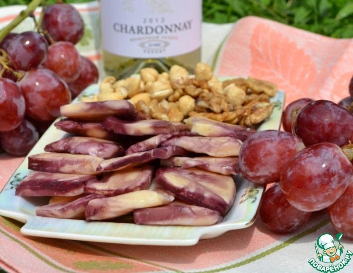 Рецепт: Сыр в виноградных листьях