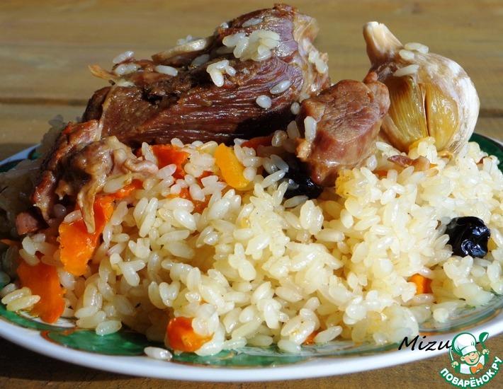 Рецепт: Настоящий узбекский плов на костре