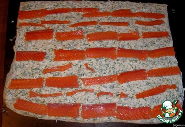 рулет с лаваша с красной рыбой рецепт с фото