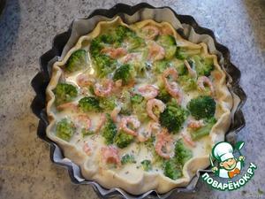 Пирог  с брокколи и креветками – кулинарный рецепт