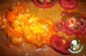 - tomatoes cut into cubes