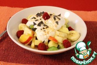 Рецепт: Фруктовый салат Райское наслаждение