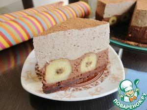 Рецепт Торт с банановым и шоколадным муссом