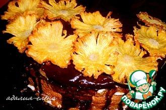 Рецепт: Цветы из ананаса