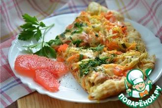 Рецепт: Пицца с курицей и грейпфрутом
