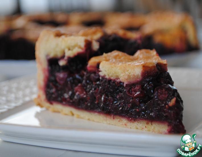 открытый ягодный пирог рецепт