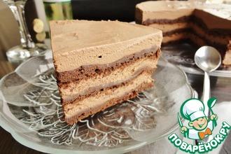 Рецепт: Торт с шоколадом и тахини