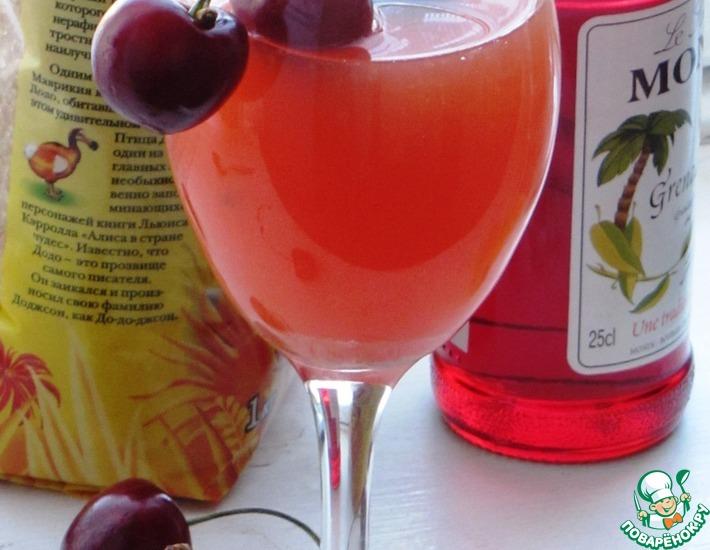 Рецепт: Апельсиновый коктейль с сиропом Гренадин