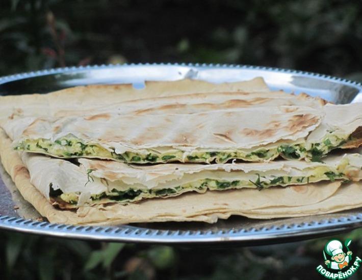 Рецепт: Лаваш а-ля хачапури гриль