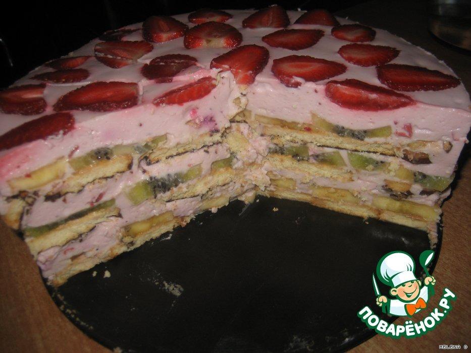 """Торт """"Фруктово-ягодный"""" без выпечки"""