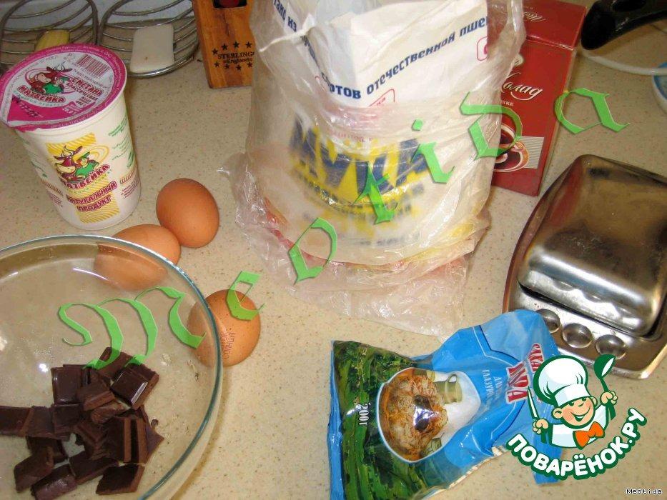 Шоколадно-сметанные пирожные