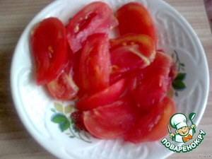 Tomatoes cut into big pieces