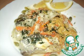 Рецепт: Рыбный гуляш по-приморски с тыквенными семечками и кунжутом