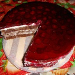 Торт Вишенка в заливке
