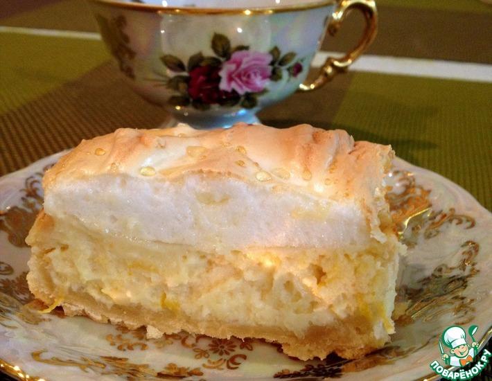 Рецепт: Лимонный пирог с безе