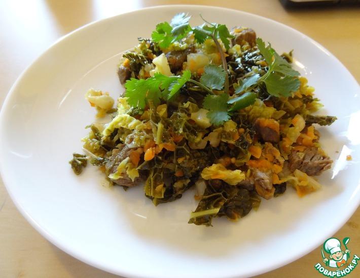 Рецепт: Савойская капуста с говядиной