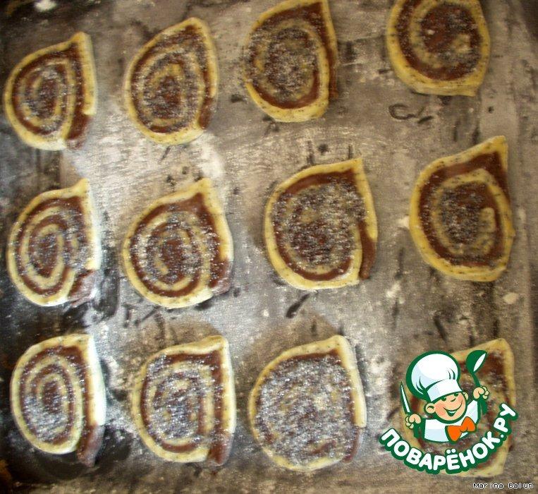 Шоколадно-маковые спиральки