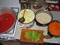 Кабачки с рисом ингредиенты