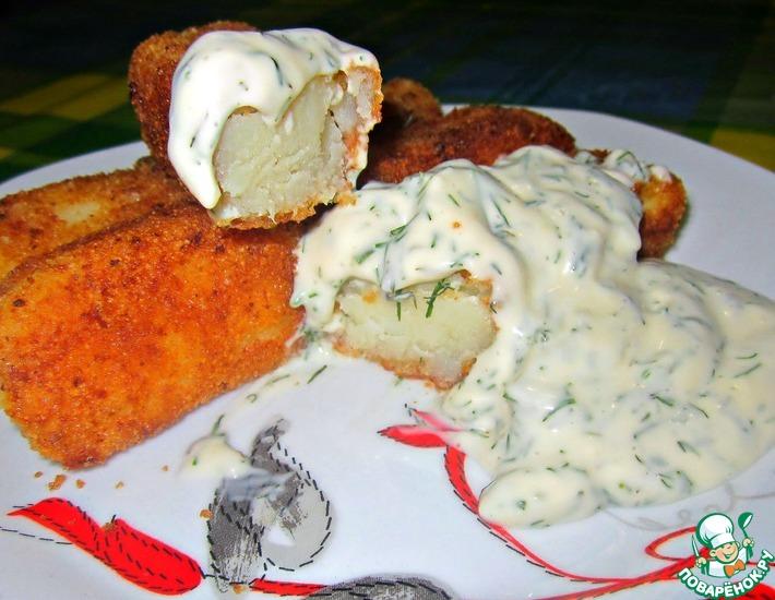Рецепт: Картофельные бревнышки