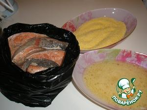 Next – dip each slice in beaten egg (add few salt it), then dip them in corn flour (grits have not tried).