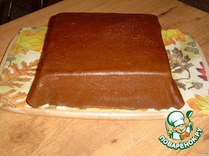 и наносим на охлажденный тортик.