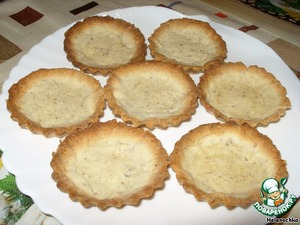 Tartlets are baked at 180 degrees for 15 minutes until Golden brown.