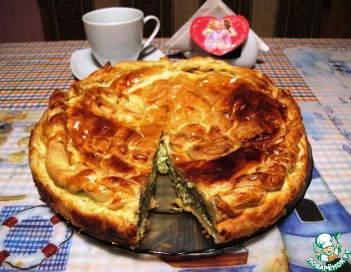 Рецепт: Пирог со шпинатом по-гречески Спанакопита