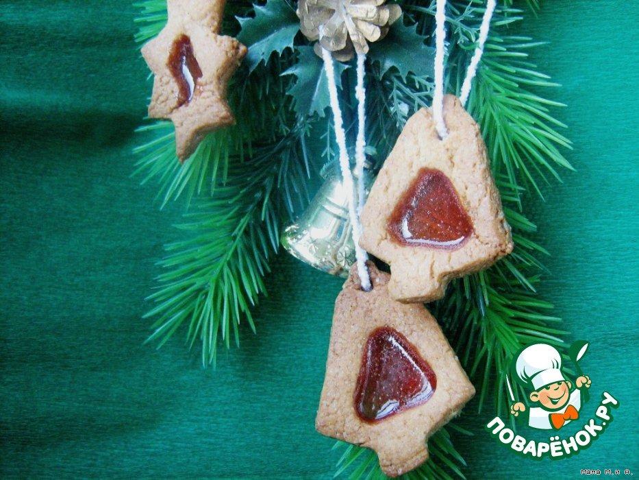 Печенье с карамельными окошками