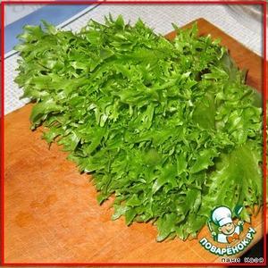 Салат из стручковой фасоли с фризе – кулинарный рецепт