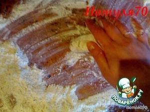 Скатываем колбаску