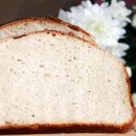 Белый хлеб на закваске без дрожжей