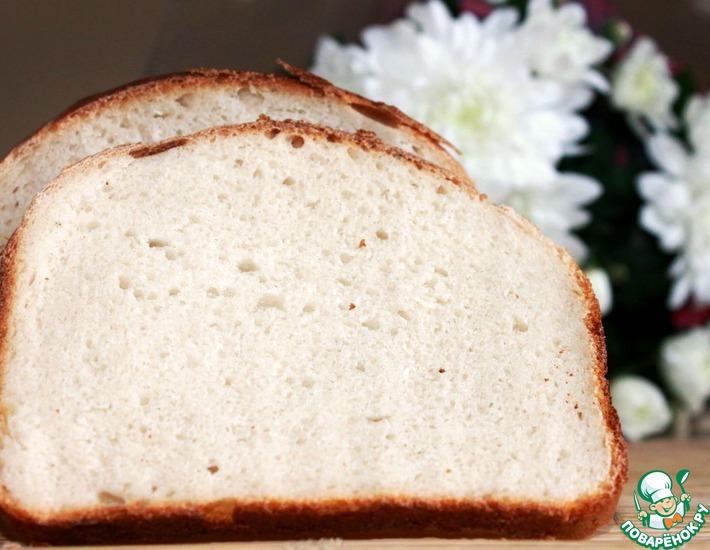 Рецепт: Белый хлеб на закваске без дрожжей