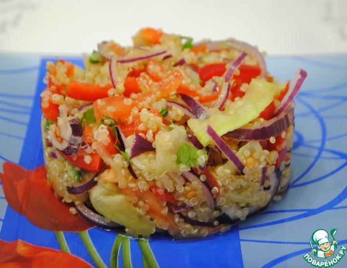 Рецепт: Салат из киноа с овощами