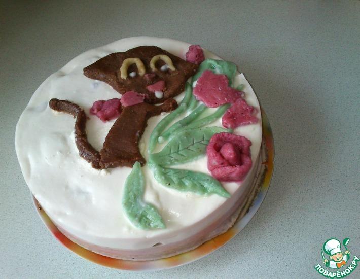 Рецепт: Бисквитный торт Мартовский кот