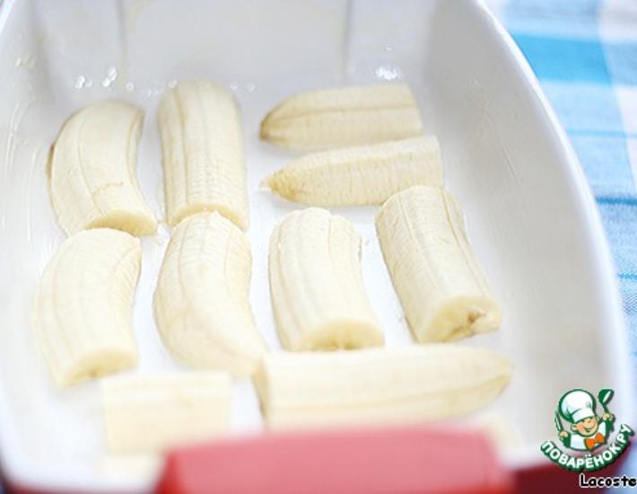 Рецепт: Творожник с белым шоколадом и бананом