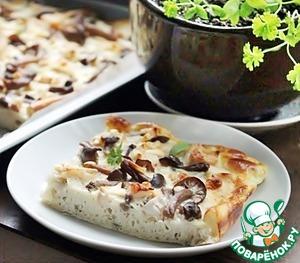 Рецепт Киш с маринованными грибами