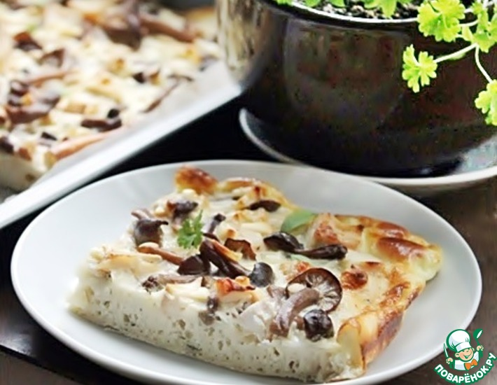 Рецепт: Киш с маринованными грибами