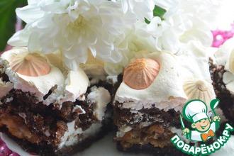 Рецепт: Торт Нежность с заварными палочками и безе
