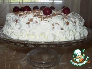 Готовый торт поставить примерно на 2-3 часа в морозильную камеру для застывания мороженого.