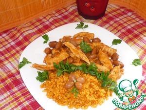 Рецепт Куриное филе с фасолью