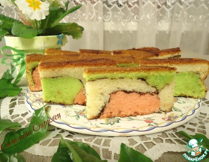 Малазийский красочный торт – кулинарный рецепт