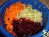 Салат из редьки, свеклы и моркови ингредиенты