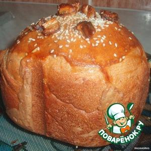 После окончания выпечки хлеб достаем, даем ему остыть и поедаем с удовольствием.