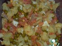 """Салат с рыбой """"Цветной"""" ингредиенты"""