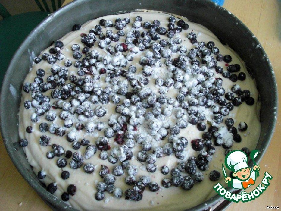 Чернично-творожный пирог