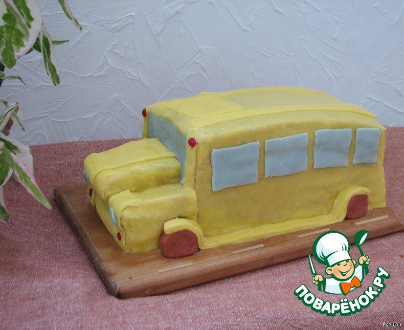 Торт Школьный автобус