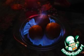 Рецепт: Пылающие яблоки
