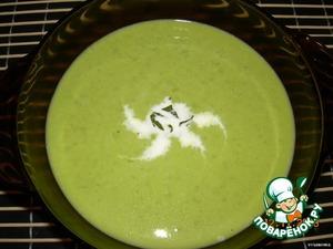 Суп-пюре из зеленого горошка – кулинарный рецепт