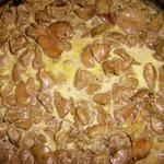 Куриная печень с имбирем