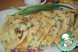Рецепт: Кукурузные блины с припёком